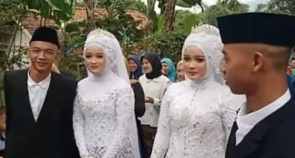 Caz incredibil! Doi frați gemeni s-au casatorit cu două surori gemene