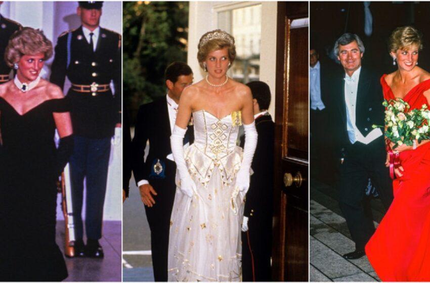 """Stilul vestimentar al Prințesei Diana: """"Trebuia să o îmbrac ca și cum ar merge la nuntă în fiecare zi"""". Cele mai spectaculoase ținute"""