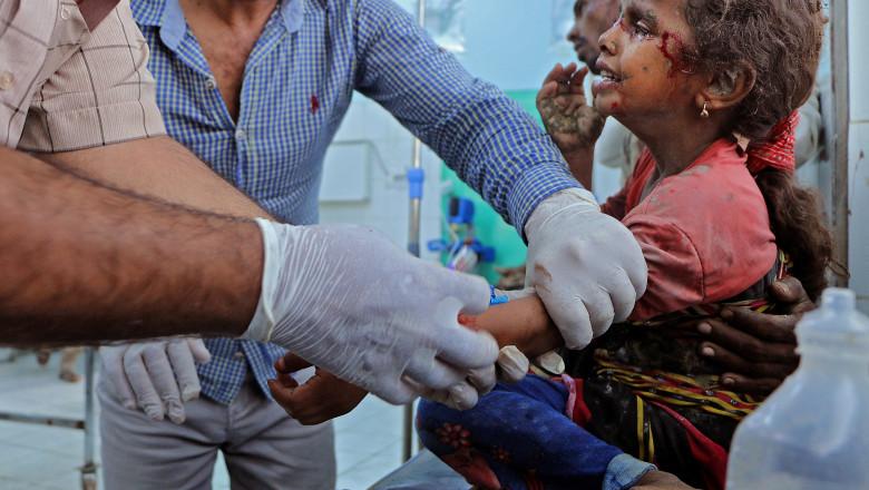Cea mai mare criză umanitară. 10.000 de copii au fost uciși sau mutilați în cei șase ani de conflict din Yemen