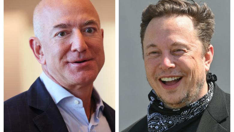 Glume de miliardari. Elon Musk, ironic la adresa lui Jeff Bezos după ce l-a depășit în clasamentul celor mai bogați oameni din lume