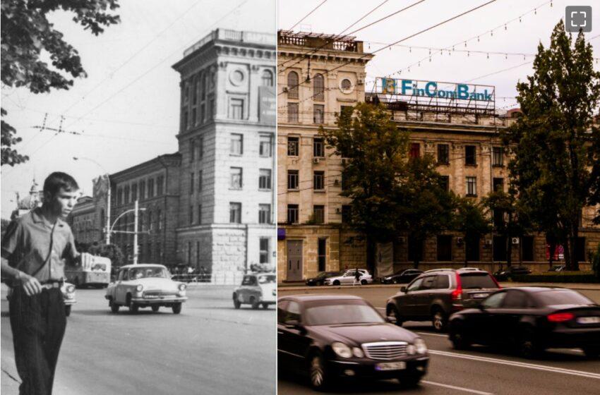 Călătorie în timp! Chișinăul, atunci și acum, într-o serie de imagini suprinzăroare