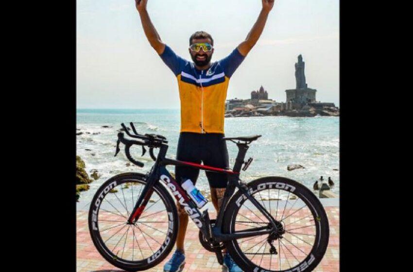 A doborât recordul mondial Guiness! Un ciclist a străbătut India de la nord la sud în 8 zile şi o oră