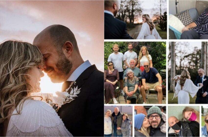 Un mire, după ce a fost diagnosticat cu tumoare cerebrală şi-a organizat întreaga nuntă în doar 36 de ore