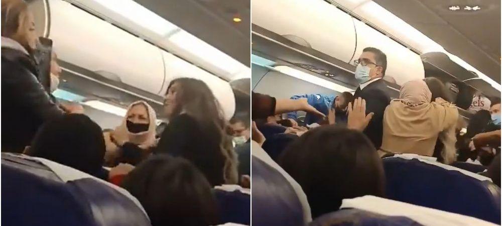 (video) Scandal la bordul unui avion. Mai mulți pasageri s-au luat la bătaie