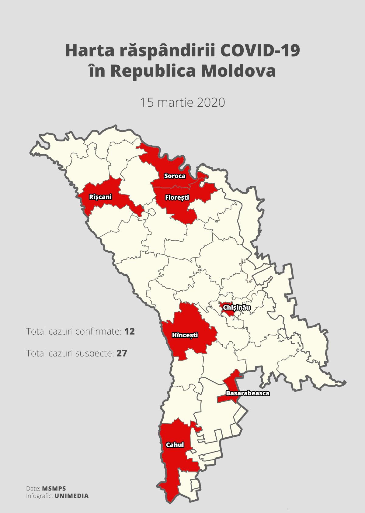 Harta Republicii Moldova